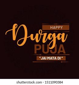 Colorful & Beautiful Flyer, Banner or Poster Design for Hindu Festival Durga Pooja or Shubh Dusshera celebration with mandala  background_Vector, Illustration set.