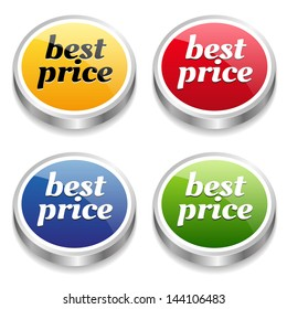 Colorful best price buttons