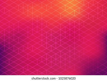 Colorful Bg with Geometric Pattern and Blurred Gradient. Vector Abstract Background.