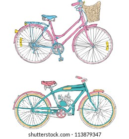 Colorful bicycles