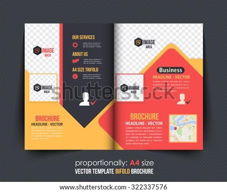 colorful bi fold brochure design corporate leaflet stock vector