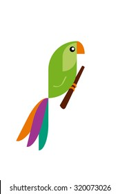 Colorful Bird Parrot Vector