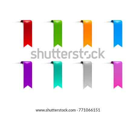 Colorful Blank Stickers Tags Labels Collection Stock Vector