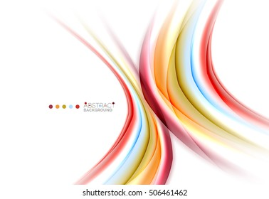 Colorful blurred stripes, abstract background template