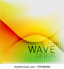 Colorful blurred wave business hi-tech background with dot texture
