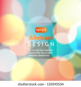 Colorful bokeh abstract background with circles of light