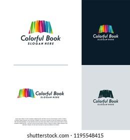 Colorful Book logo designs concept vector, Abstract book logo