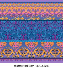 Colorful border pattern, seamless lace background