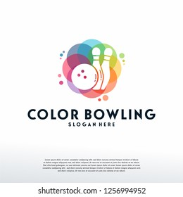 Colorful Bowling logo vector, Sport logo designs template, design concept, logo, logotype element for template