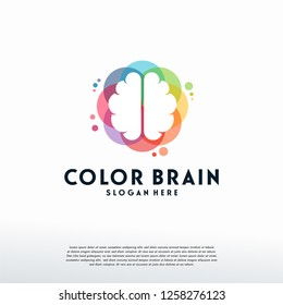 Colorful Brainstorm logo vector, rain logo designs template, design concept, logo, logotype element for template