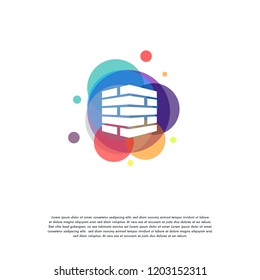 Colorful Brick Work logo vector, Brick Building logo designs template, design concept, logo, logotype element for template