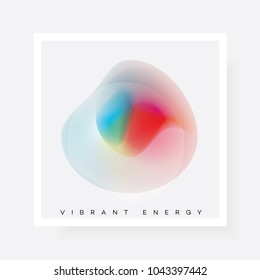 Colorful bright abstract gradient shape