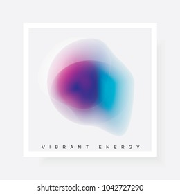 Colorful bright gradient abstract shape