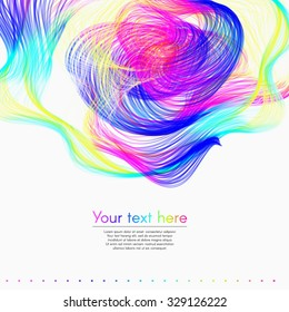 Colorful bright rainbow abstract background with text banner