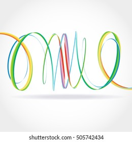 Colorful Bright Rainbow Spiral Background. Vector logo, web, banner, poster, print design element.