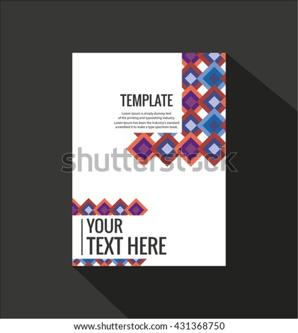 colorful brochure stock vector royalty free 431368750 shutterstock