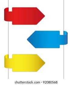 Colorful brochure design by arrow.