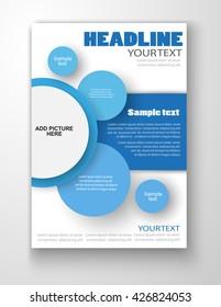 brochure design flyer template business education stock vector