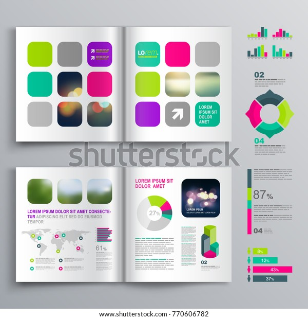 Colorful Business Brochure Template Design Color Stock Vector Royalty Free 770606782