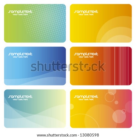 colorful business cards artistic abstract background textures trendy business templates with copy space contemporary texture