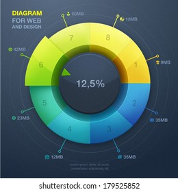 Colorful business chart. Vector