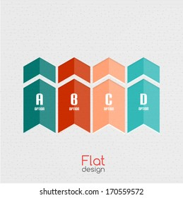 Colorful business ribbon stripes for infographics | business background | numbered banners | business lines | graphic website layout vector