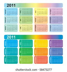 Colorful calendar 2011, vector