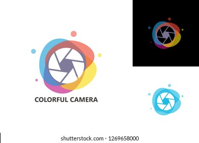 Colorful Camera Logo Template Design Vector, Emblem, Design Concept, Creative Symbol, Icon