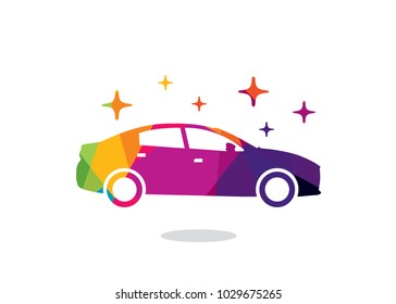 Colorful Car Logo Design Template, Element Design, Vector Design