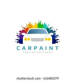 Colorful Car Paint Logo