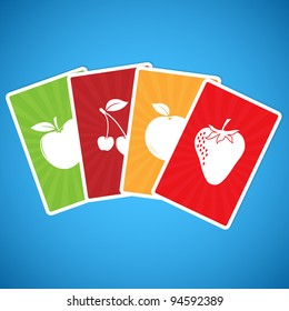 Colorful Cards with Fresh Fruits