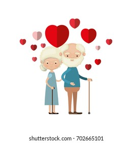 old man old woman couple heart stock vector royalty free 548952598