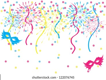 colorful carnival background vector stock vector royalty free