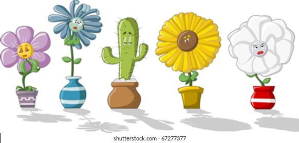 Cartoon Flower Vase Images Stock Photos Vectors Shutterstock