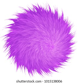 Colorful cartoon fluffy pompons. Fur balls.  Vector isolated on white background. Funny fur balls for game design.