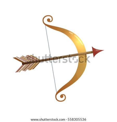 Colorful Cartoon Illustration Cupid Bow Arrow Stock Vector Royalty