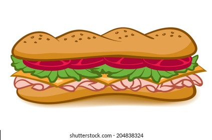 sandwich cartoon images stock photos vectors shutterstock https www shutterstock com image vector colorful cartoon sub sandwich lettucetomatomeat cheese 204838324
