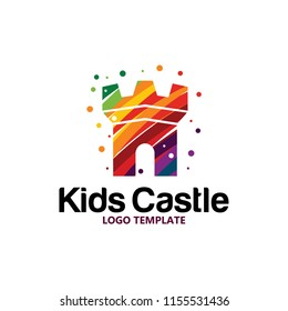 colorful castle logo