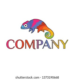 colorful chameleon logo, logo for your identtity, company, and more.