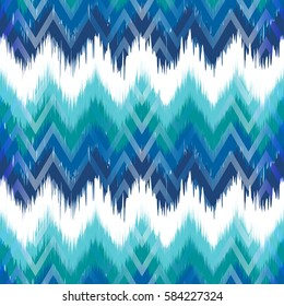 Colorful chevron ornament tradition stylish ornament Zig zag ikat seamless pattern
