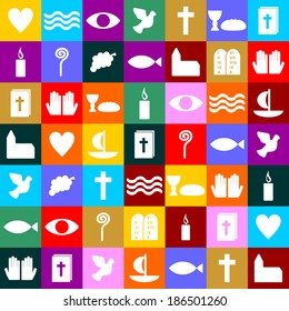 colorful christian symbols