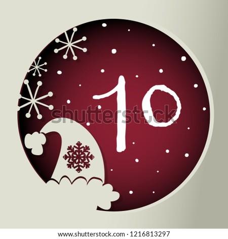 Until Christmas 70 Days Till Christmas.Colorful Christmas Advent Calendar Countdown Christmas Stock