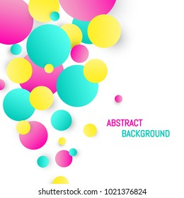 Colorful circle background. Abstract circle design Vector illustration.