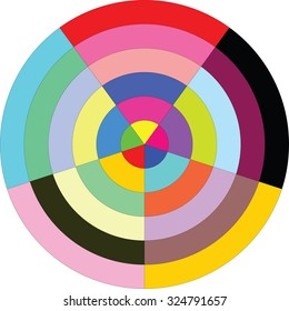 Colorful circle diagram, vector illustration isolate on white