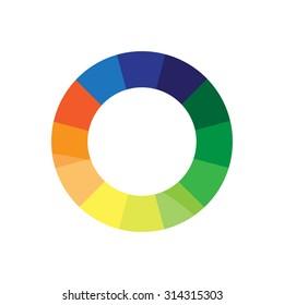 Colorful Circle Logo Design. White Background Vector Illustration