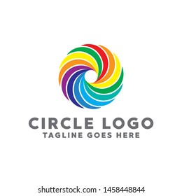 Colorful Circle Logo. Modern Forms and Abstract Colorful Circles Icons and Symbols.