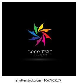 Colorful Circle Logo. Symbol and Icon Vector Template.