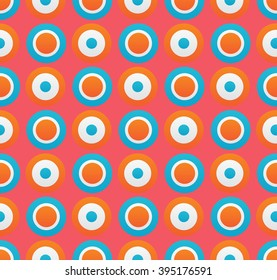 colorful circles background. seamless pattern.