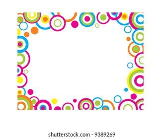 colorful circles border