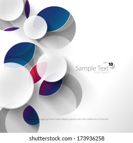 Colorful Circles Design Background